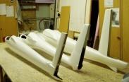 Laminátové trupy v M 1:4 : Orlík VT 116, ASV 15b, Blaník  L13/4